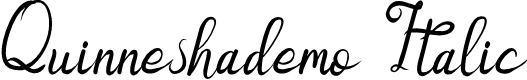 Preview image for Quinneshademo Italic Font