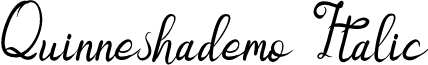 Quinneshademo Italic