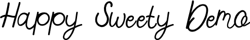 Preview image for Happy Sweety Demo Font