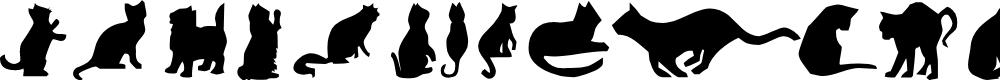Preview image for Cat Silhouettes Font