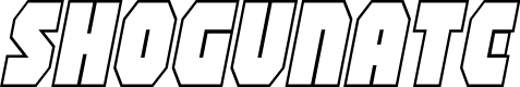 Preview image for Shogunate Outline Italic
