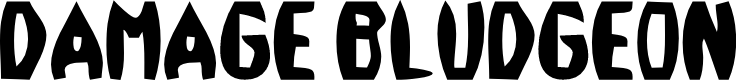 Preview image for Damage™ Bludgeon Font