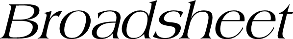 Preview image for Broadsheet LDO Italic