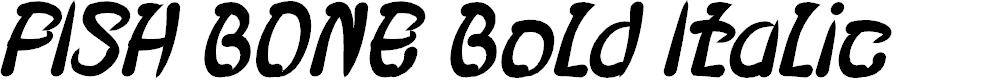 Preview image for FISH BONE Bold Italic