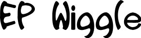 Preview image for EP Wiggle Font