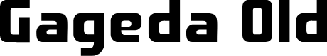 Preview image for Gageda Old Font