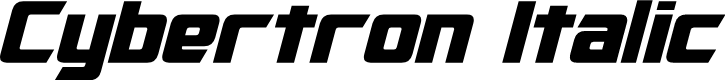 Preview image for Cybertron Italic