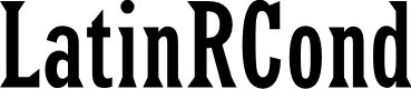 Preview image for LatinRCond Font