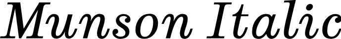 Preview image for Munson Italic
