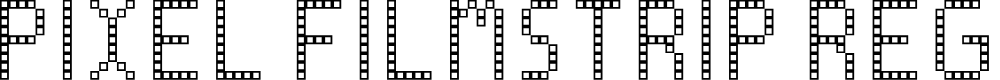 Preview image for Pixel Filmstrip Regular Font