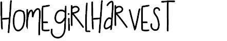 Preview image for HomegirlHarvest Font