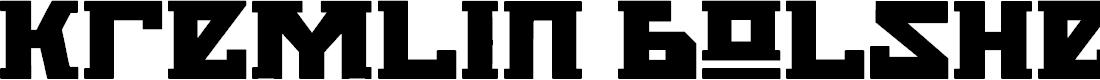 Preview image for Kremlin Bolshevik Bold Font