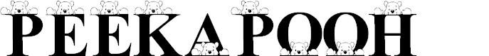 Preview image for LMS Peek-A-Pooh Font