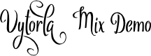 Preview image for Vytorla Mix Demo Font