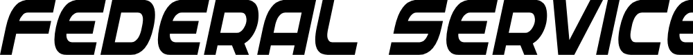 Preview image for Federal Service Bold Condensed Italic