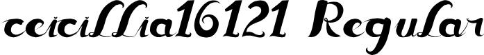 Preview image for ceicillia16121 Regular Font