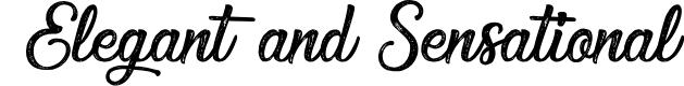 Preview image for Elegant and Sensational Font