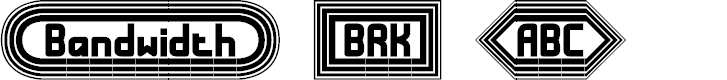 Preview image for Bandwidth BRK Font