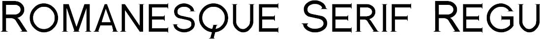 Preview image for Romanesque Serif Regular