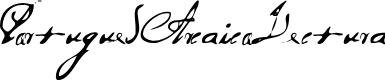 Preview image for PortuguesArcaicoLectura Font