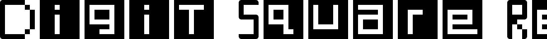 Preview image for Digit Square Regular Font