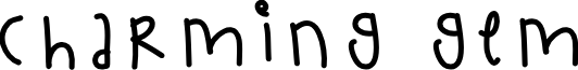 CharmingGem font