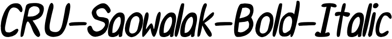Preview image for CRU-Saowalak-Bold-Italic