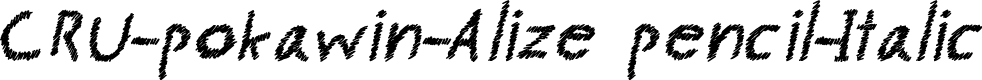 Preview image for CRU-pokawin-Alize pencil-Italic