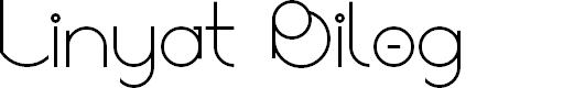 Preview image for Linyat Bilog Font