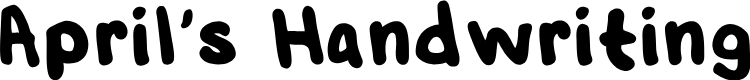 Preview image for AprilsHandwriting-Regular Font