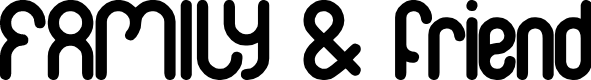 Preview image for FAMILY & friend Font