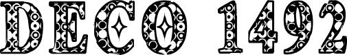 Preview image for CF Deco 1492 Regular Font
