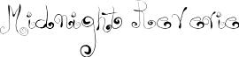 Midnight Reverie font