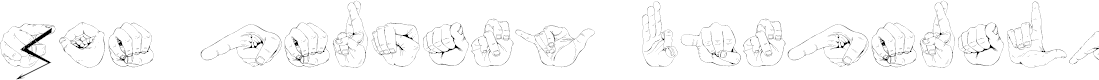 Preview image for ZOE Germany Fingeralphabet Regular Font