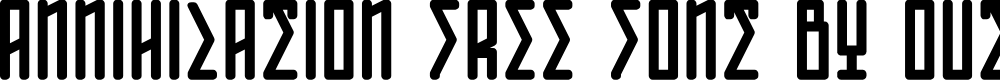Preview image for ANNIHILATION Font