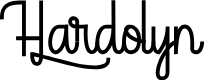 Preview image for Hardolyn [Demo] Font