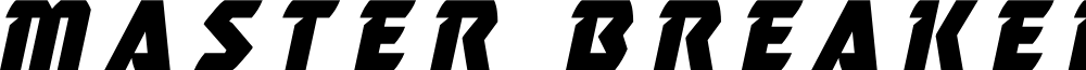 Master Breaker Title Italic