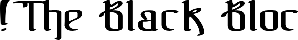 Preview image for !The Black Bloc Font
