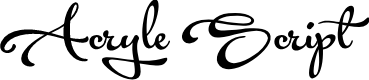 Preview image for Acryle Script Personal Use Font