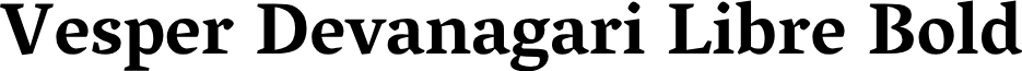 Vesper Devanagari Libre Bold