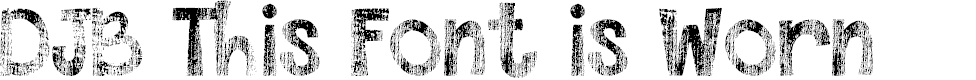 Preview image for DJB This Font is Worn Font