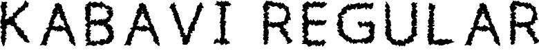 Preview image for Kabavi Regular Font