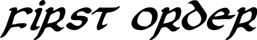 Preview image for First Order Plain Italic