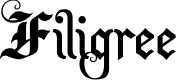 Preview image for Filigree Font