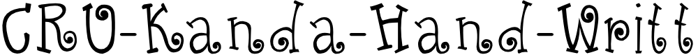 Preview image for CRU-Kanda-Hand-Written