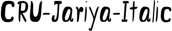 CRU-Jariya-Italic