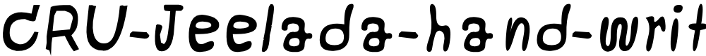 Preview image for CRU-Jeelada-hand-written Bold Italic