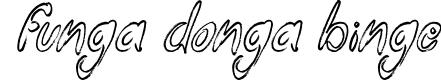 Preview image for Funga Donga Binge Font