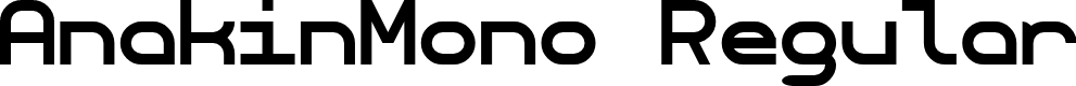 Preview image for AnakinMono Regular Font