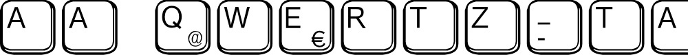 Preview image for aa QWERTZ-Tasten Font